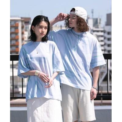 coen / FEELING MADE ユニセックス マーブルカラー ビッグTシャツ WOMEN トップス > Tシャツ/カットソー