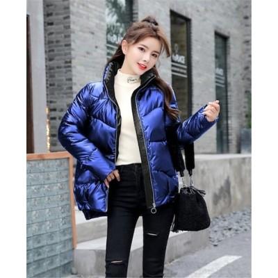 品質改善!高品質新入庫!INSスタイル コート ダウンコート 2020 秋 冬 ジッパー 暖かい 長袖 新品 厚みをつける 短いスタイル スタンドカラー 高品質