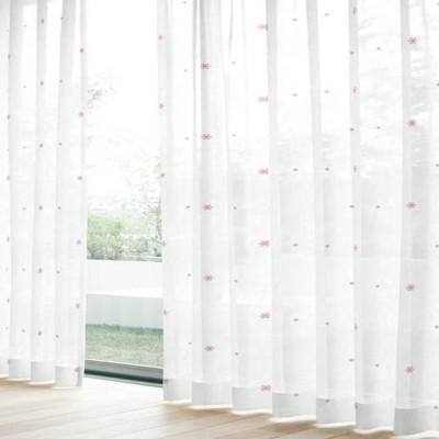 レースカーテン L.セフィ(2枚組) ピンク 巾100cm×丈133cm