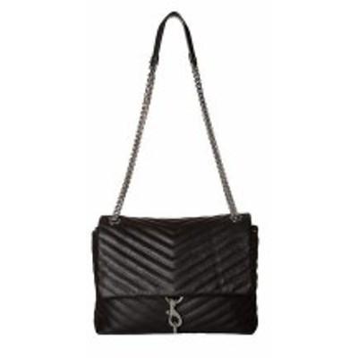 レベッカミンコフ レディース ハンドバッグ バッグ Edie Flap Shoulder Bag Black 1