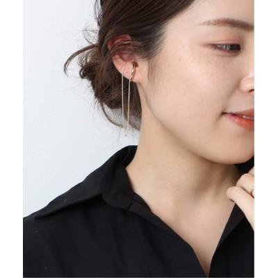 レディース スピック&スパン 【UCALYPT】Swing long chain ear cuff◆ ゴールド フリー