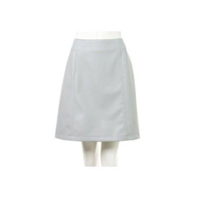 イング INGNI フェイクレザー台形スカート (ミントグリーン)