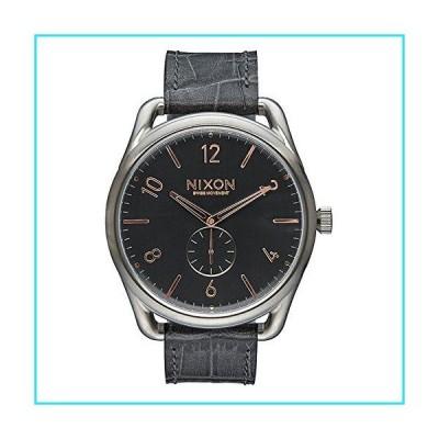 Nixon Men's C45 A4652145 Grey Leather Swiss Quartz Fashion Watch【並行輸入品】