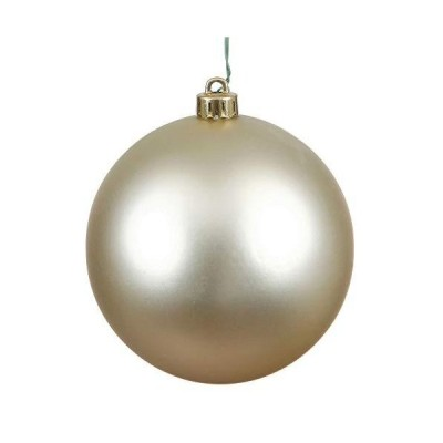 Matte ChampagneUV Resistant Commercial Shatterproof Christmas Ball Ornament