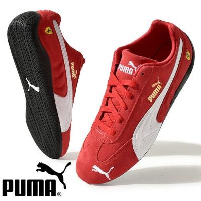 プーマ スニーカー PUMA メンズ フェラーリ スピードキャット Ferrari コラボ ドライビングシューズ モータースポーツ 靴 2021春新作 306796