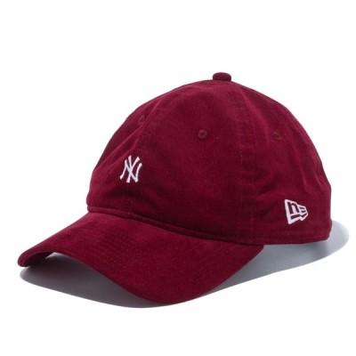 ニューエラ NEW ERA 9TWENTY ニューヨーク・ヤンキース マイクロコーデュロイ ミニロゴ バーガンディー 56.8 - 60.6cm キャップ 帽子 日本正規品
