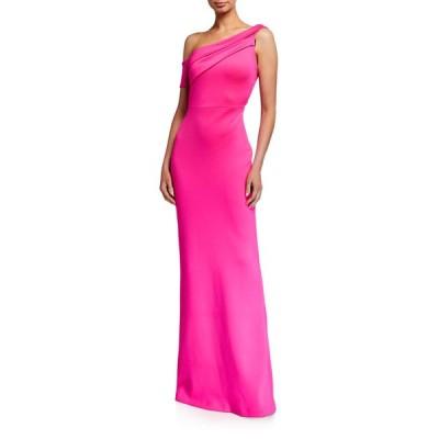 ブラックハロ レディース ワンピース トップス Zendaya One-Shoulder Column Gown