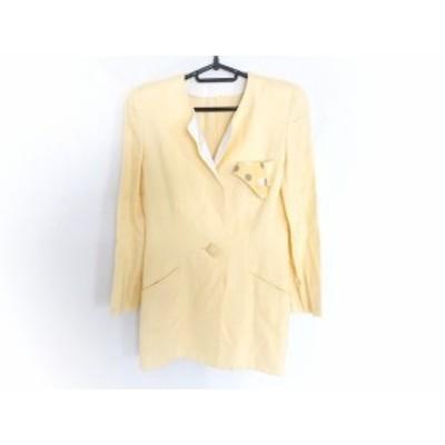 ギンザマギー MAGGY コート サイズ9 M レディース - イエロー 長袖/肩パッド/春/秋【中古】20201101