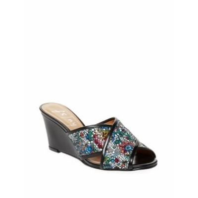 フレンチ ソールFS/NY レディース シューズ サンダル Floral Leather Wedge Sandals