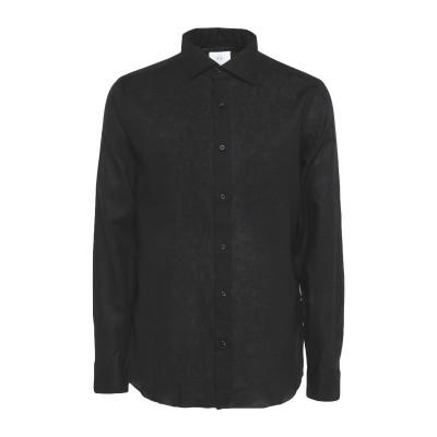 MASSIMO LA PORTA シャツ ブラック 43 リネン 100% シャツ