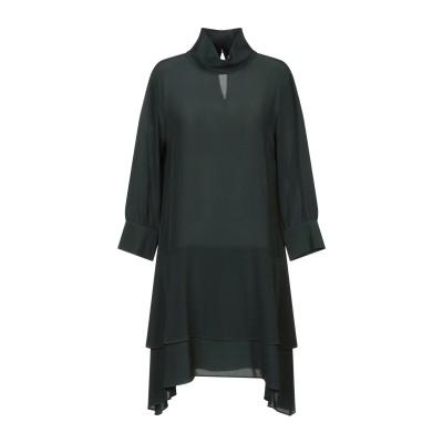 ツインセット シモーナ バルビエリ TWINSET ミニワンピース&ドレス エメラルドグリーン 42 シルク 100% ミニワンピース&ドレス
