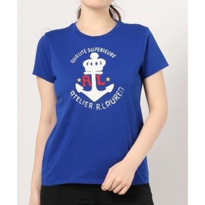 tシャツ Tシャツ アンカー グラフィック コットン Tシャツ