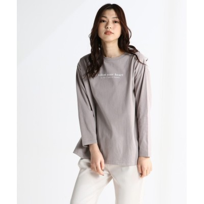 Honeys / チュニック丈ロゴTシャツ WOMEN トップス > その他トップス