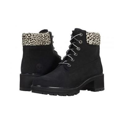 "Timberland ティンバーランド レディース 女性用 シューズ 靴 ブーツ レースアップ 編み上げ Kinsley 6"" Waterproof Boot - Black Nubuck/Leopard"