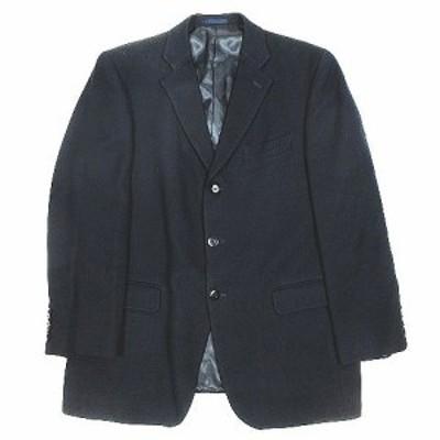 【中古】五大陸 gotairiku テーラードジャケット ブレザー アウター 総裏 ウール シルク混 3B 6L 紺 ネイビー メンズ