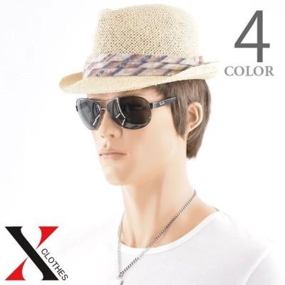 ハット帽子メンズネイティブメッシュペーパーハット帽子メンズ夏中折ストローストローハット中折れハットサイズ調節メンズ