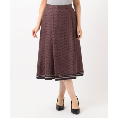 J.PRESS/ジェイプレス 【洗える】ジオメトリックプリント スカート グレー系5 9