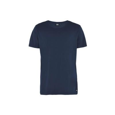 DR. DENIM JEANSMAKERS T シャツ ダークブルー S オーガニックコットン 100% T シャツ