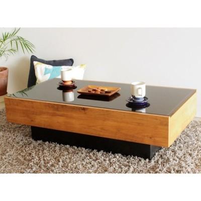センターテーブル  ローテーブル リビングテーブル 国産 日本製 ナチュラルブラウン 105×55cm 長方形 引出し付き シックハウス対応 低ホルムアルデヒド