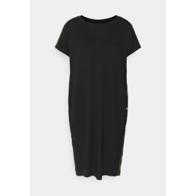 バブアー レディース ワンピース トップス GRID DRESS - Jersey dress - black black
