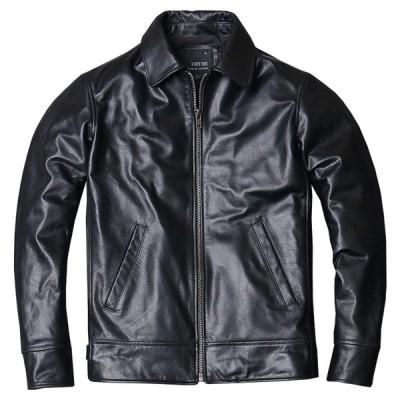 Garuda SHOP  紳士防寒防風効果抜群バイクオートバイレザージャケット メンズ本革レザージャケット バイク多機能ライダースジャケット 品番3079