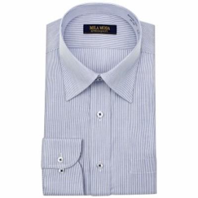 送料無料 ワイシャツ メンズ 長袖 形態安定 レギュラーカラー ドレスシャツ Yシャツ カッターシャ【GAD432-350】