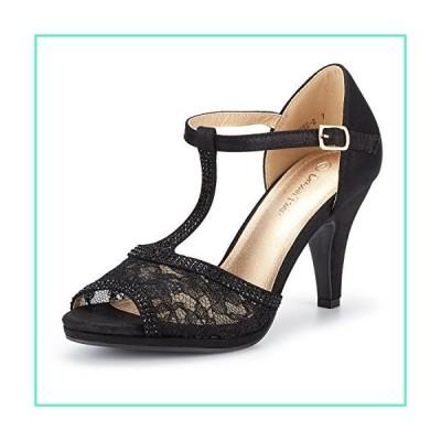 DREAM PAIRS Women's Amore_2 Black Fashion Stilettos Open Toe Pump Heel Sandals Size 9 B(M) US並行輸入品
