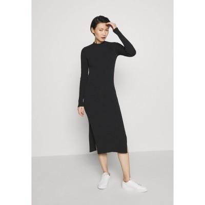 マルツィアーリ ワンピース レディース トップス OPEN BACK KNIT DRESS - Jumper dress - black