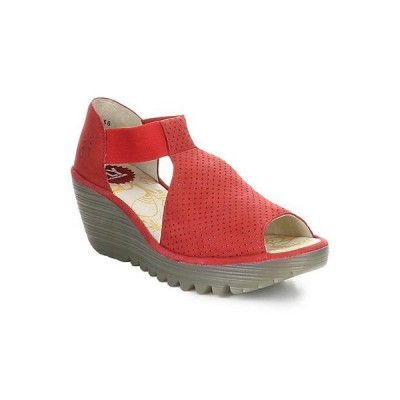 レディース シューズ  FLY London Yemo Leather Wedge Sandal