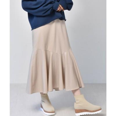 レトロガール RETRO GIRL レザーマーメイドスカート (Lベージュ)