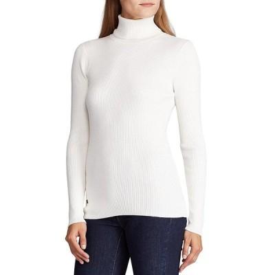ラルフローレン レディース ニット&セーター アウター Turtleneck Stretch Cotton Blend Sweater Mascarpone Cream