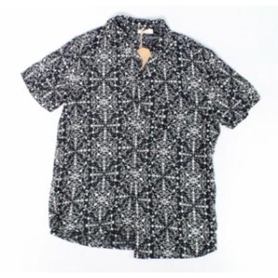 ファッション アウター Another Influence Mens Shirt Black Medium M Floral Print Button Down