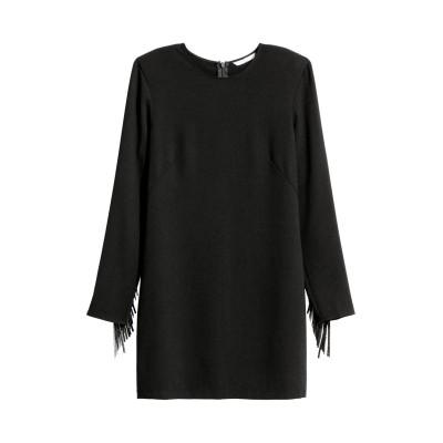 H&M - フリンジワンピース - ブラック