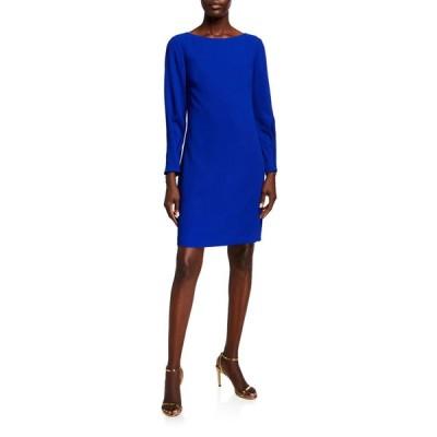 トリーナターク レディース ワンピース トップス Calistoga Bateau-Neck Long-Sleeve Dress