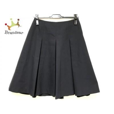 エムズグレイシー M'S GRACY スカート サイズ38 M レディース - ダークネイビー ひざ丈/プリーツ 新着 20201215
