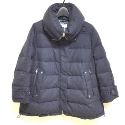 ヘルノ HERNO ダウンジャケット サイズ46 L レディース - 黒 七分袖/冬【中古】20210328