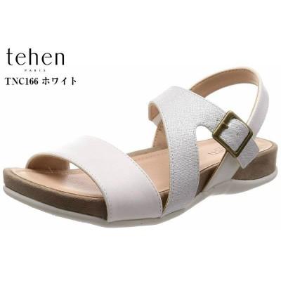 tehen (テーン) TNC166 バックバンド カジュアルサンダル フィット感と足裏のサポートを感じられるサンダル レディス(グリーンコンビ×24.0cm〜24.5cm)