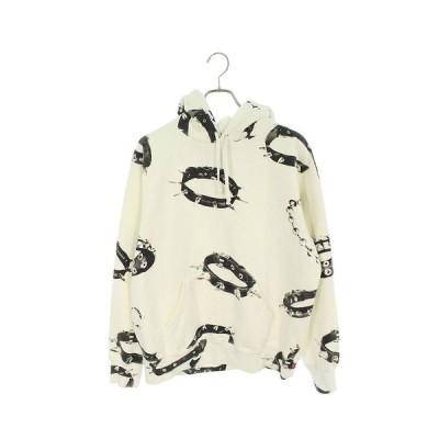 シュプリーム SUPREME 20AW Studded Collars Hooded Sweatshirt サイズ:M 総柄プリントパーカー 中古 BS55