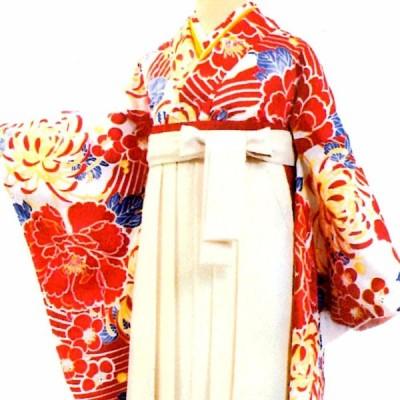 卒業式 二尺袖着物 総柄 赤系 牡丹  着物 二尺袖 きもの 和服 レディース 女性 レトロ 謝恩会