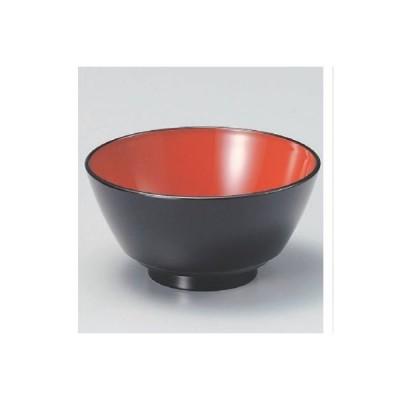 飯碗 赤坂飯椀黒内朱 高さ62 直径:122/業務用/新品