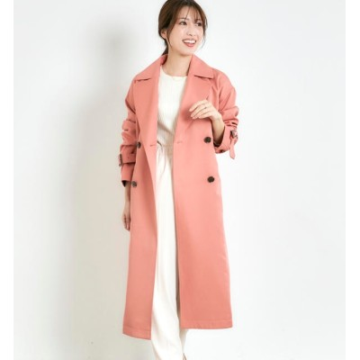 【ミューズ リファインド クローズ/MEW'S REFINED CLOTHES】 【WEB限定】スプリングコート 撥水・防花粉ロングトレンチコート