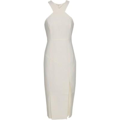 CINQ À SEPT 7分丈ワンピース・ドレス ホワイト 12 ポリエステル 54% / レーヨン 39% / ポリウレタン 7% 7分丈ワンピー