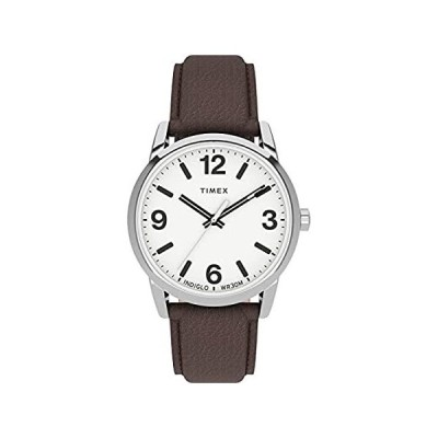Timex Men's Easy Reader Bold 38mm Watch – Silver-Tone Case White Dial with