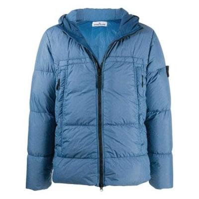 ストーンアイランド ダウンジャケット ダウン コート ベスト メンズStone Island logo patch puffer jacketBlue
