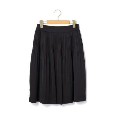KEITH Lサイズ/キースエルサイズ サテンジョーゼット スカート ネイビー 44