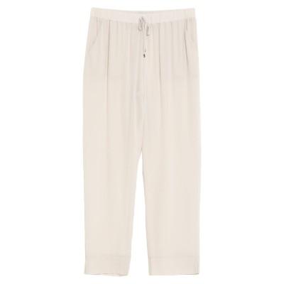 LA FILERIA パンツ ライトグレー 42 シルク 100% パンツ