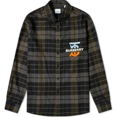 バーバリー Burberry メンズ シャツ トップス Tucker Tisci Fit Tb Check Shirt Black Check
