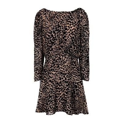 RIXO ミニワンピース&ドレス ベージュ S シルク 50% / レーヨン 50% ミニワンピース&ドレス