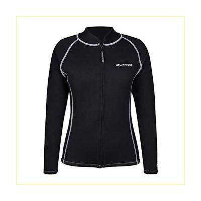 LayaTone Wetsuits Tops Men 3mm Neoprene Jacket Adults Surfing Canoeing Bathing Surfing Suits Jacket Top Front Zipper Rash Guard Long Sleeves