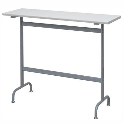 【個人宅配送可能商品】リフレッシュ丸型ハイテーブル W1200×D400 ホワイト RFRT-HT1240WH アールエフヤマカワ